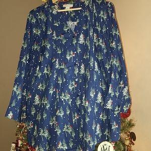 Coldwater Creek Winter Christmas Shirt